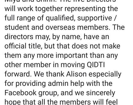 Pleased to announce my new role as co-director for QIDTI